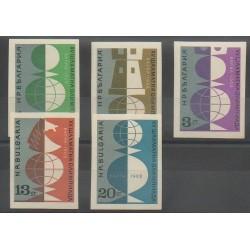 Bulgarie - 1962 - No 1142a/1146a - Échecs