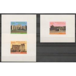 Ivory Coast - 1985 - Nb 710A/710C Epreuves de luxe - Monuments