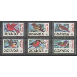 Ouganda - 1998 - No 1688/1693 - Oiseaux - Noël
