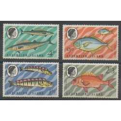 Ascension Island - 1970 - Nb 131/134 - Sea animals