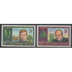 Ascension Island - 1974 - Nb 182/183 - Celebrities