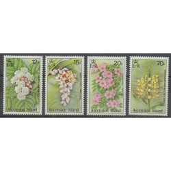 Ascension Island - 1985 - Nb 386/389 - Flowers