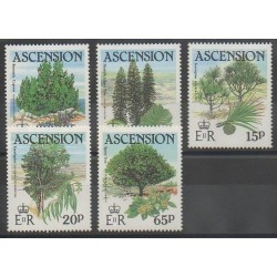 Ascension Island - 1985 - Nb 369/373 - Trees