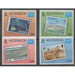 Ascension Island - 1986 - Nb 399/402 - Stamps on stamps