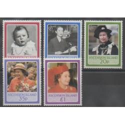 Ascension Island - 1986 - Nb 394/398 - Royalty