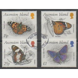 Ascension Island - 1987 - Nb 433/436 - Insects - Used