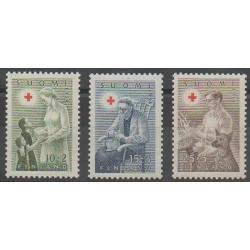 Finlande - 1954 - No 405/407 - Santé ou Croix-Rouge