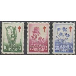 Finlande - 1958 - No 472/474 - Fleurs - Santé ou Croix-Rouge