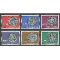 Yougoslavie - 1966 - No 1082/1087 - Monnaies, billets ou médailles