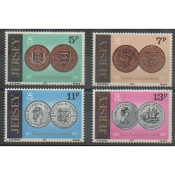 Jersey - 1977 - Nb 154/157 - Coins, Banknotes Or Medals