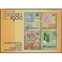 Singapour - 1980 - No BF12 - Timbres sur timbres - Exposition