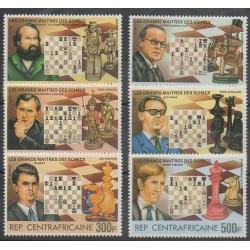 Centrafricaine (République) - 1983 - No 573/576 - PA280/PA281 - Échecs