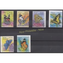 Timbres - Thème papillons - Israël - 2011 - No 2112A/2112F