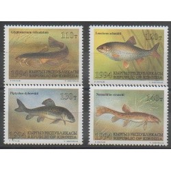 Kyrgyzstan - 1994 - Nb 24/27 - Sea animals