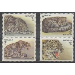 Kyrgyzstan - 1994 - Nb 28/31 - Mamals - Endangered species - WWF