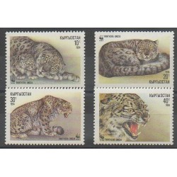 Kirghizistan - 1994 - No 28/31 - Mammifères - Espèces menacées - WWF