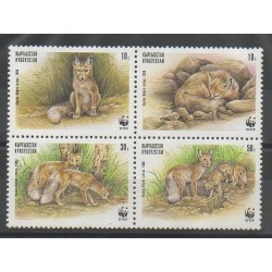 Kirghizistan - 1999 - No 135/138 - Mammifères - Espèces menacées - WWF