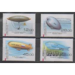 Kyrgyzstan - 2011 - Nb 565/568 - Hot-air balloons - Airships