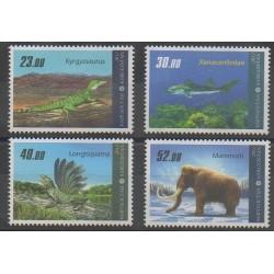 Kirghizistan - 2012 - No 602/605 - Animaux préhistoriques