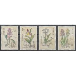 Suède - 1982 - No 1187/1190 - Orchidées