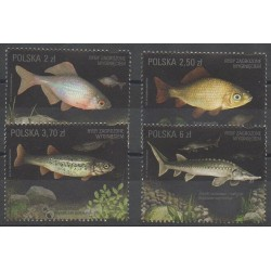 Poland - 2016 - Nb 4492/4495 - Sea animals - Endangered species - WWF
