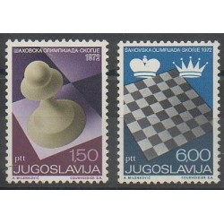 Yougoslavie - 1972 - No 1366/1367 - Échecs