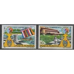Roumanie - 1992 - No 4007/4008 - Échecs