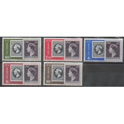 Luxembourg - 1952 - No PA16/PA20 - Timbres sur timbres