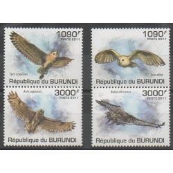 Burundi - 2011 - No 1221/1224 - Oiseaux