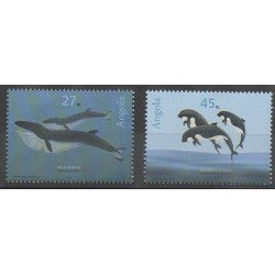Angola - 2003 - Nb 1557/1558 - Mamals - Sea animals