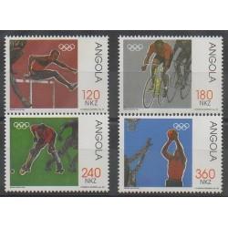 Angola - 1992 - No 866/869 - Jeux Olympiques d'été