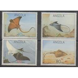 Angola - 1992 - No 842/845 - Animaux marins