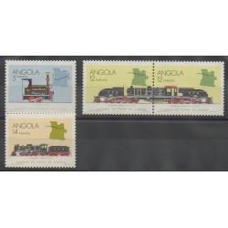 Angola - 1990 - No 764/767 - Chemins de fer