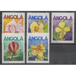 Angola - 1985 - Nb 699/703 - Flowers