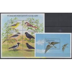 Turkménistan - 2002 - No 163/168 et BF 40 - Oiseaux
