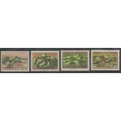Angola - 1959 - Nb 413/416 - Flora - Mint hinged