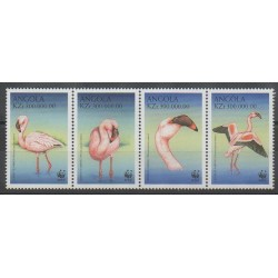 Angola - 1999 - Nb 1253/1256 - Birds - Endangered species - WWF