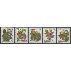Suède - 1977 - No 975/979 - Fruits ou légumes