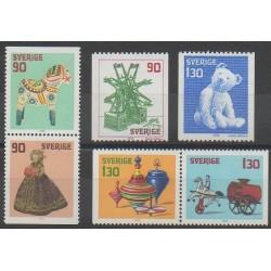 Suède - 1978 - No 1027/1032 - Noël - Enfance