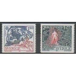 Suède - 1981 - No 1123/1124 - Folklore - Europa