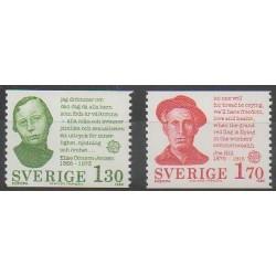 Suède - 1980 - No 1088/1089 - Europa - Célébrités