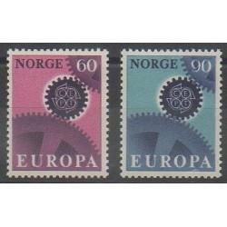 Norvège - 1967 - No 509/510 - Europa
