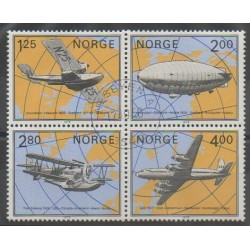 Norway - 1979 - Nb 761/764 - Planes - Hot-air balloons - Airships