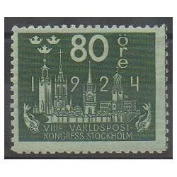 Suède - 1924 - No 174 - Service postal - Neuf avec charnière