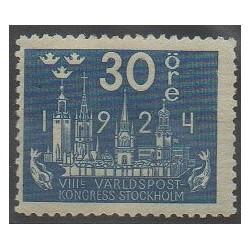 Suède - 1924 - No 168 - Service postal - Neuf avec charnière