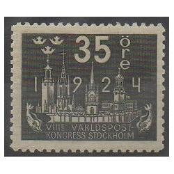 Suède - 1924 - No 169 - Service postal - Neuf avec charnière