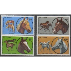 Niger - 1973 - Nb 282/285 - Horses