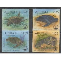 Aitutaki - 1995 - Nb 566/569 - Reptils