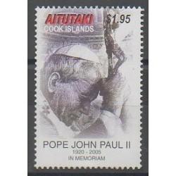 Aitutaki - 2005 - Nb 594 - Pope