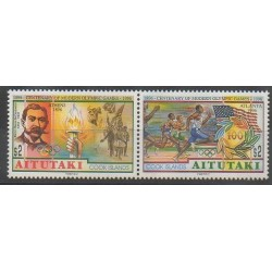Aitutaki - 1996 - No 571/572 - Jeux Olympiques d'été
